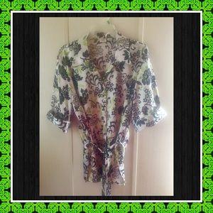 👘Floral Kimono Style Blouse